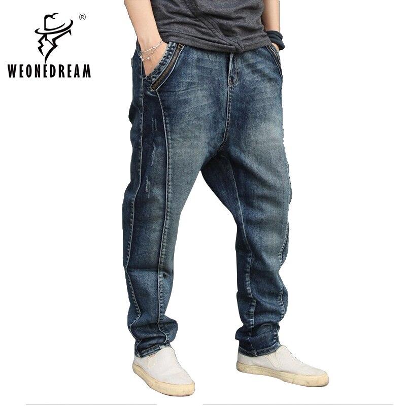 Aliexpress.com  Buy 2017 New Arrival Men Jeans Pants Man Loose Harem Denim Pants Mens Skinny ...