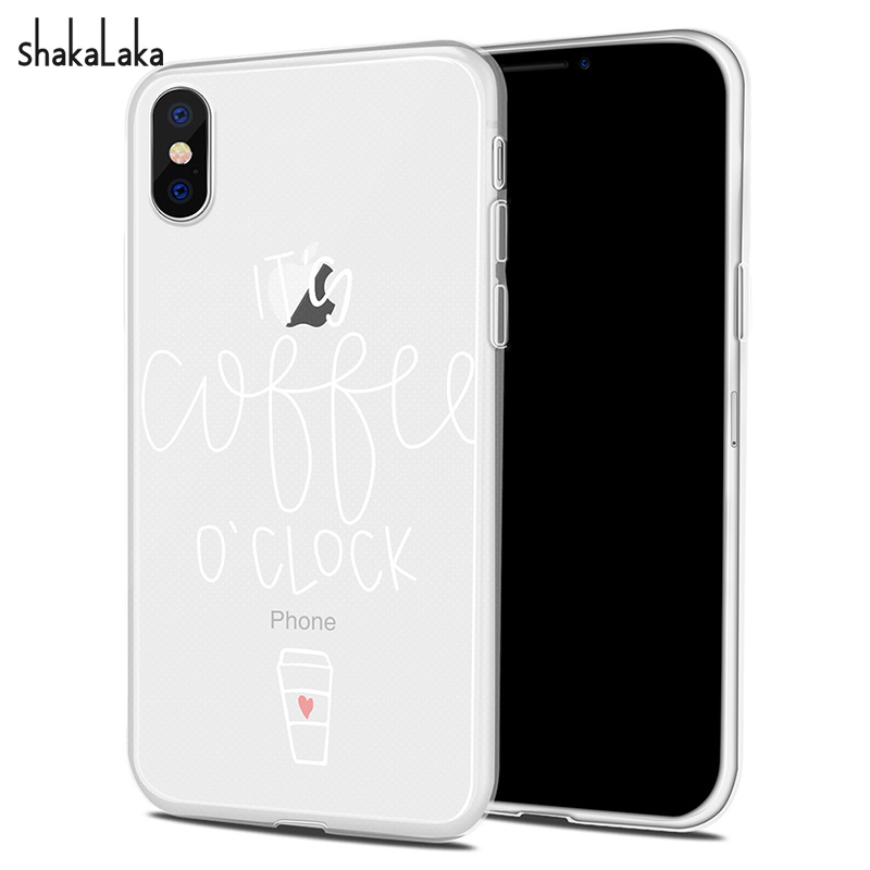 Cute White Message Soft Phone Case Cover for iPhone X 5 5s
