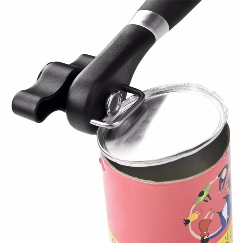 Professional Heavy Duty Safety Can Opener - No Sharp Edge - Safe For Children And Seniors - Blade Does Not Touch Food