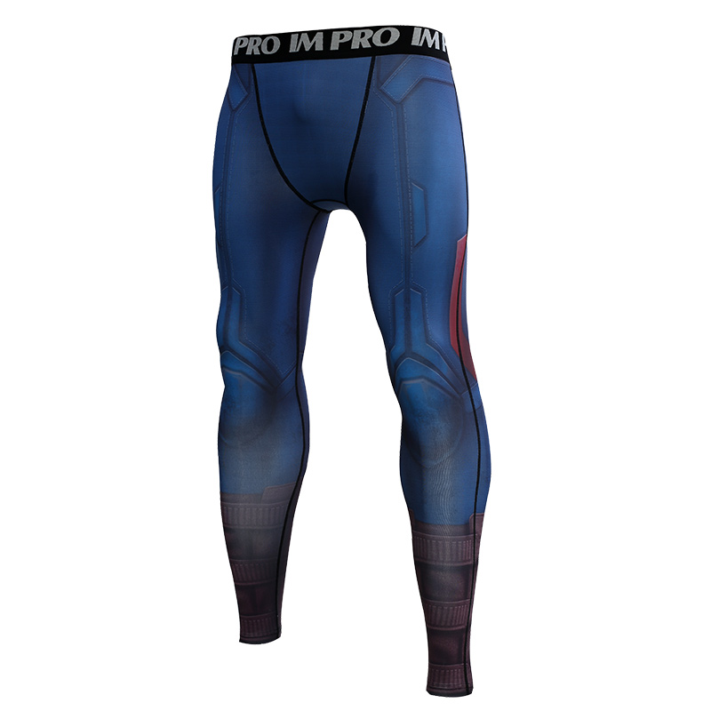 Trousers Male Leggings Compression-Tights-Pants Printed-Pattern Avengers Skinny Captain