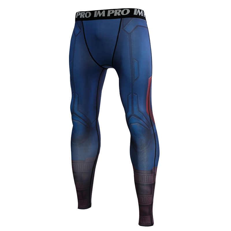 f889bd40bc92e Captain American Avengers 4 Endgam 3D Printed Pattern Compression Tights  Pants Men 2019 Sweatpants Skinny Leggings