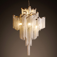 Luxury Waterfall Chandelier Hotel Ceiling Lamp Villa Top Grade Lighting Meeting Hall Light With 1m Adustable Chain Hotel Decor