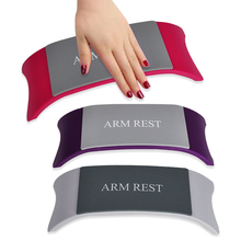 Comfortable Plastic & Silicone Nail art Cushion Pillow Salon Hand Holder Nail Arm Rest Manicure Accessories Tool Equipment