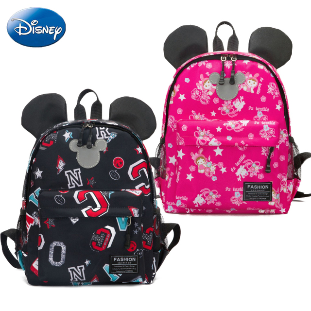 ab5a19323f1 Disney Children s Backpack Cute Fashion Waterproof Cartoon Boy Girl Minni Mickey  Mouse Handbag Bag Soft Travel Plush SchoolBags