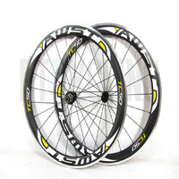 EMS free shipping road bike wheels 50mm alloy brake surface aluminium bicycle carbon wheels v brack surface made in china