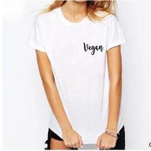 VEGAN pocket logo women's t-shirt