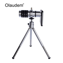 Mobile Phone Lens 12X Zoom Telescope Camera Telephoto Lenses Lente Para Celular With Tripod Case for iPhone 6 iPhone6 4.7 Inch