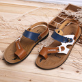 2016 New Authentic Korean Version Trend Male Sandals Breathable Fashion Beach Sandals Slippers SIZE 37-43 Free Shipping