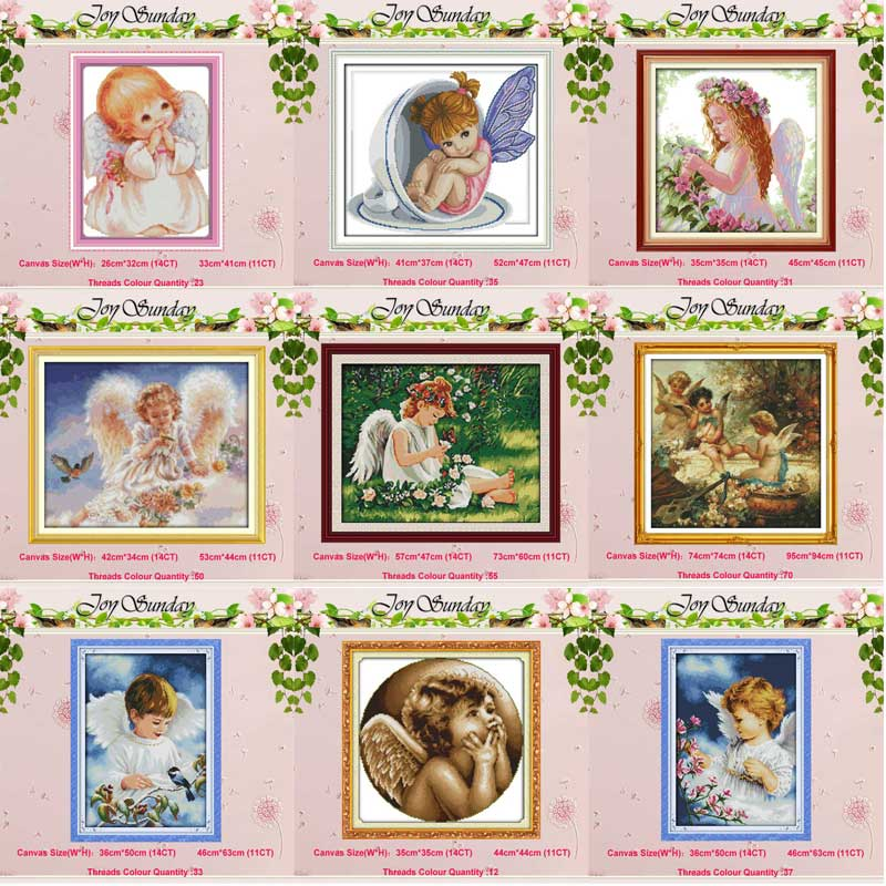 Baby Girl Angel Counted Cross Stitch 11CT 14CT Cross Stitch Set Wholesale DIY Chinese Cross-stitch Kit Embroidery Needlework