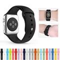 Colorida banda de la muñeca de silicona con conector adaptador para apple watch correa deportes pulsera hebilla 42mm 38mm