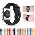 Silicone Colorful wrist band With Connector Adapter for Apple Watch Strap Sports Buckle Bracelet 42mm 38mm