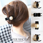 Women Girls Pearl and Rhinestone Decorated Hair Clip Pin Claw Hair Accessories