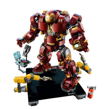 Iron Man Hulkbuster Model Building Blocks Compatible legoing 76105 Bricks Marvel Avengers Infinity War Super Hero Boy Gifts Toys цена