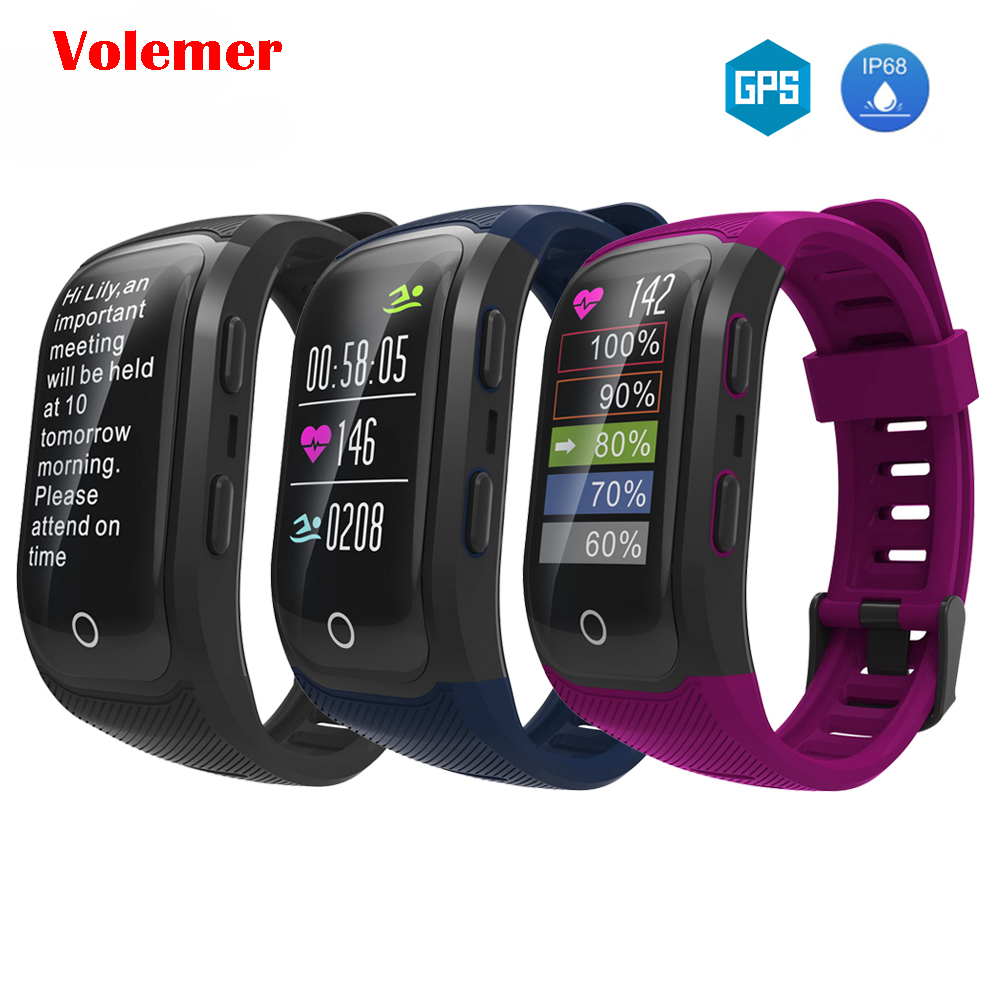 Volemer Smart band G03 Plus GPS IP68 Heart rate Wristband Fitness activity Tracker Smart band sport Bracelet pedometer Wristband id118 plus smart wristband fitness