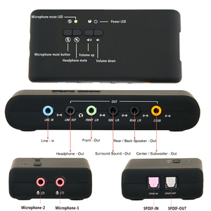 Image 3 - USB2.0 sound card add on cards Cmi 6206 Chipset USB 7.1 Sound Card with SPDIF & USB Extension Cable  remote wake up support