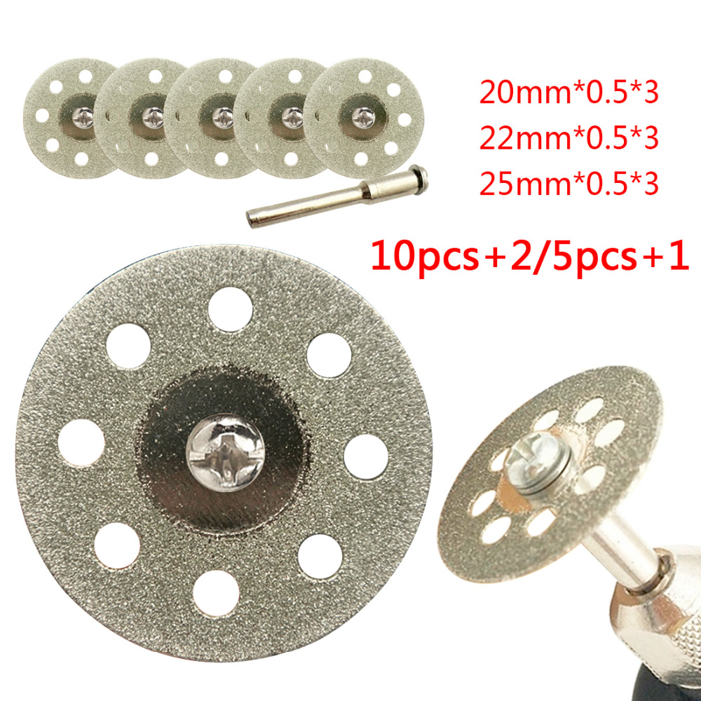 Abrasive Diamond Disc 5pcs Mini Cutting Disc For Rotory Accessories Diamond Grinding Wheel Rotary Tool Circular Saw Blade
