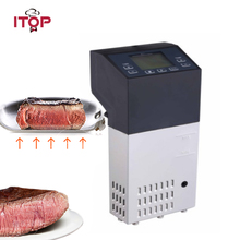 ITOP Electric Food Processors Sous Vide Immersion Circulator Slow Cooker Machine With Timer Temperature Control 220V itop 220v sous vide precision cooker immersion pod with digital lcd display 1100w stainless steel powerful operation quiet