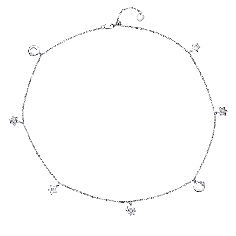 LEKANI 2019 mode étoile lune colliers femmes cristaux de Swarovski pendentifs Choker Vintage bijoux fête accessoires cadeau