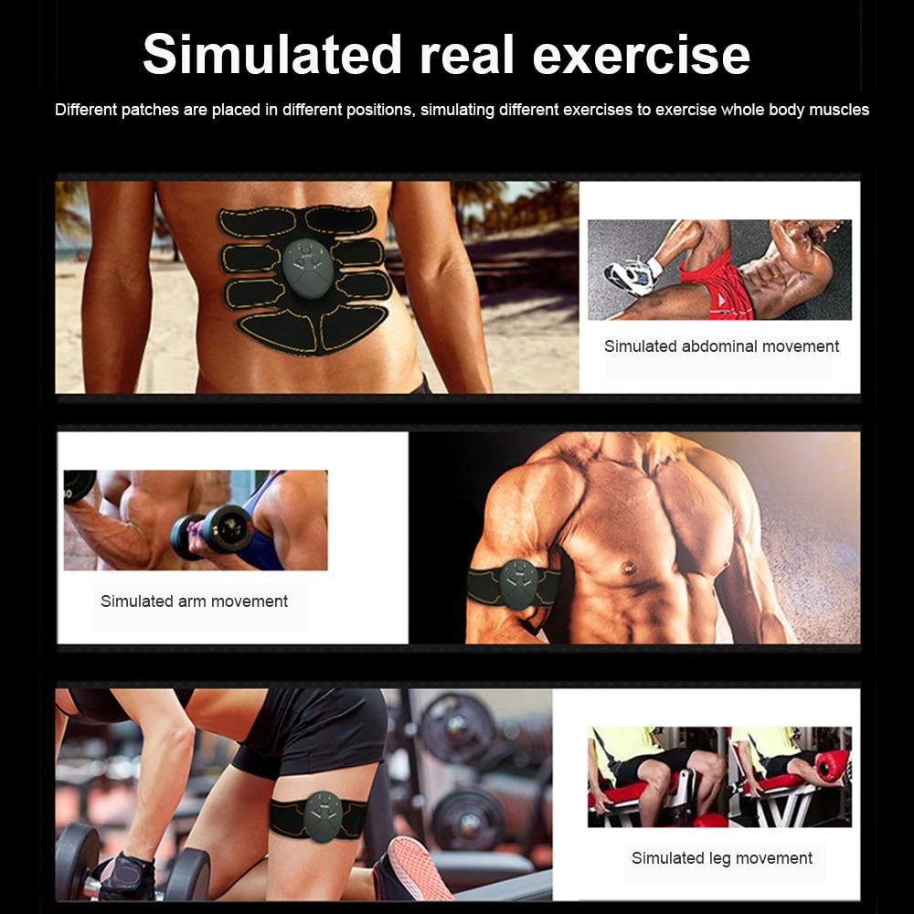 Умный EMS стимулятор мышц ABS брюшной мышцы тонер тела фитнес формирующий массаж патч стройнящий тренажер унисекс