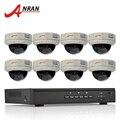 Plug And Play Sistema de CCTV 8CH P2P POE NVR Kit + 3 TB HDD 1080 P 2.0MP HD Dome IR À Prova D' Água de E-mail De Alarme Câmera de Segurança IP POE