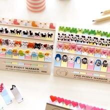 Gato dos desenhos animados panda auto-adesivo n vezes almofada de memorando papel animal notas pegajosas marcador de papelaria etiqueta adesivos material escolar
