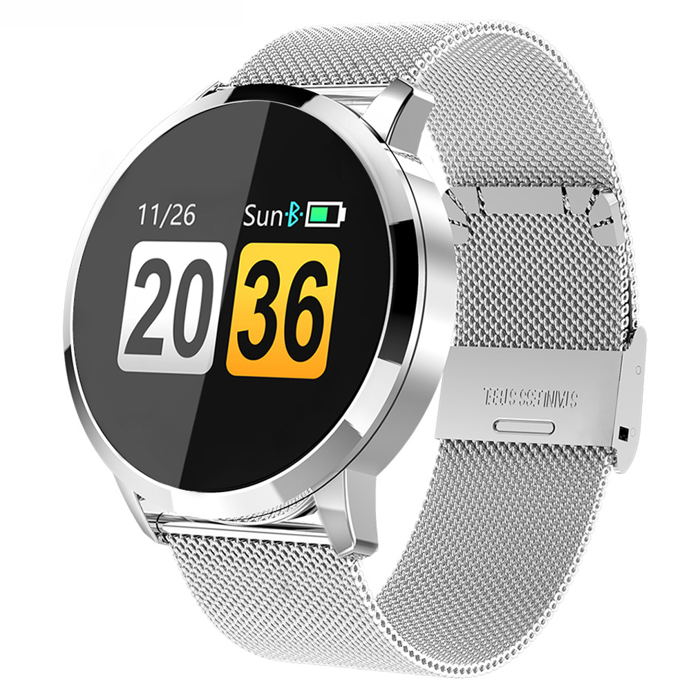 Fashion Smart Watch OLED Color Screen Smartwatch Men Fitness Tracker Blood Presure Heart Rate monitor Sport