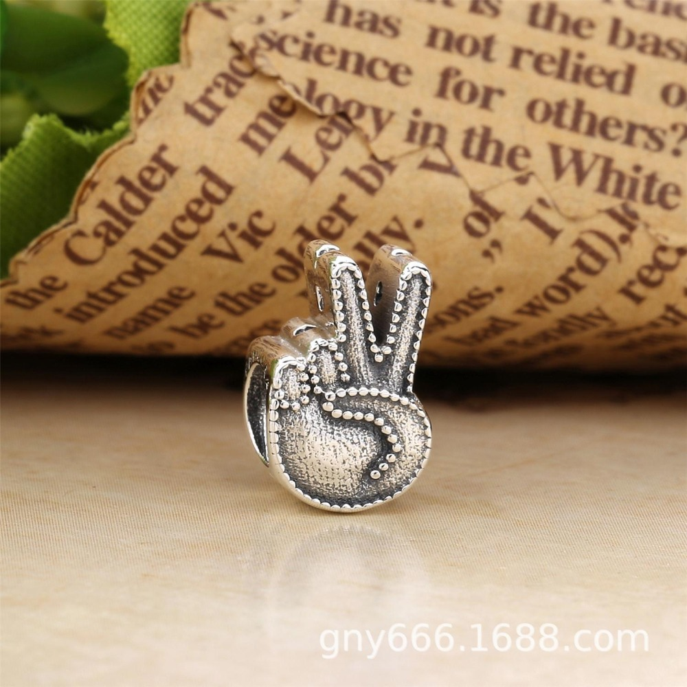2018 New Authentic 925 Silver Symbol Of Peace Charm Fit Original