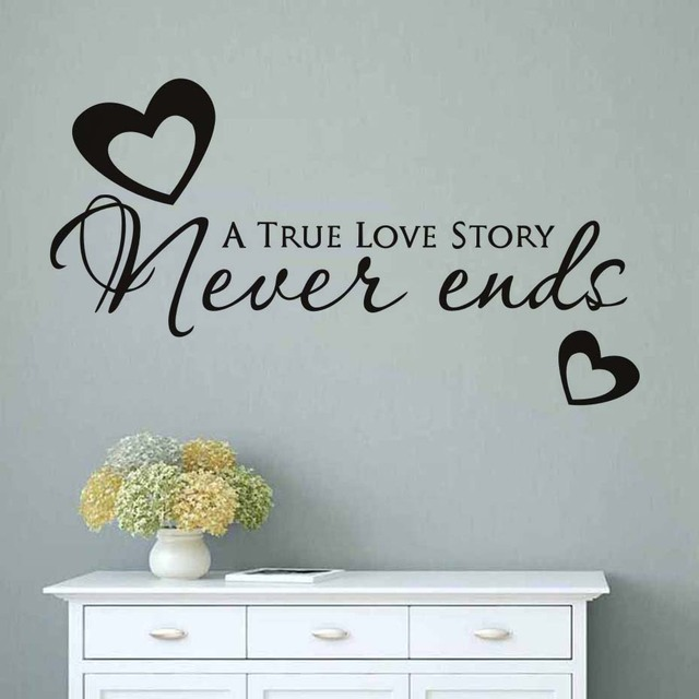 Valentine's Day Gift Love Quotes Wall Sticker For Lover Living Room Amazing Love Quotes Wall Art