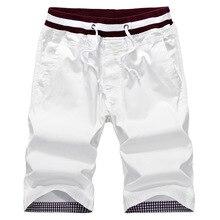 2017 Verano Nuevo Ocasional Flojo Bermudas Masculinas Buena Calidad de Color Sólido Corto Pantalon Deporte Hombre