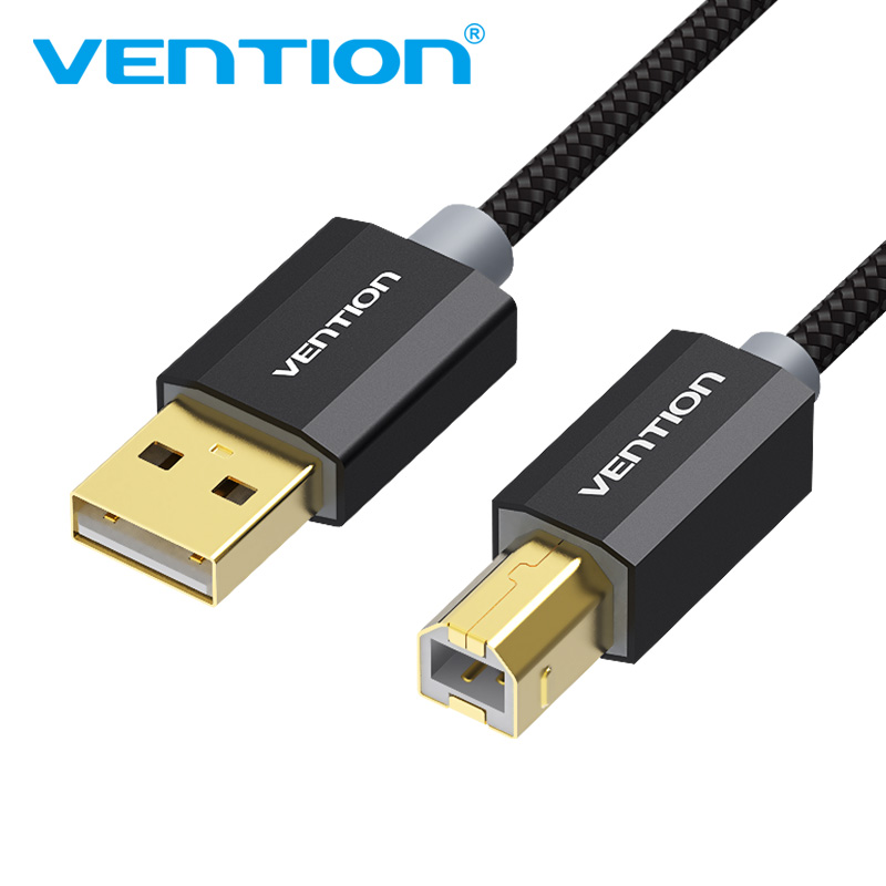 Vention USB 2.0 Printer Cable Type A Male to B Male Scanner Sync Data Charger Cord Gold Plated Cable For HP Printer USB2.0 Cable vention brand high speed usb 2 0 type a to b male to male scanner fax machine computer printer cable sync data charging cord