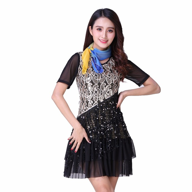 fdce6d5c209 Plus Size Great Gatsby Dress Adult Performance Costumes V Collar Short  Sleeve Sequin Tiered Fringe women party Dress Fancy Dress
