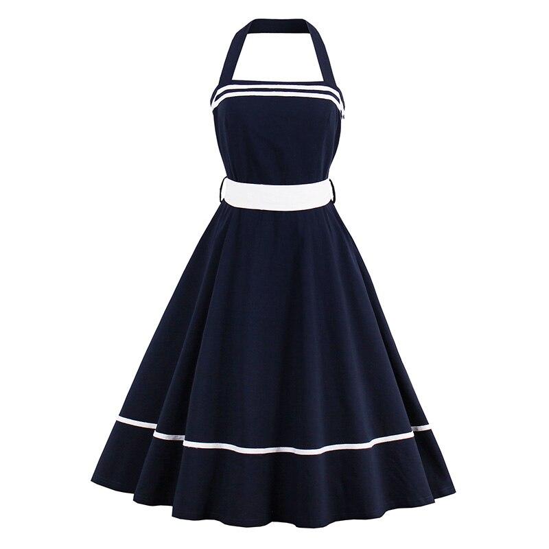 Sisjuly Women Summer Dark Blue Dress Female Spring Solid Dresses Sleeveless Knee-Length A-Line Sashes Female Bowknot Girls Dress