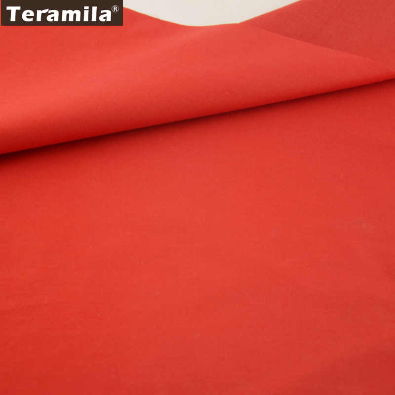 Classic Red Solid Color 100% Cotton Fabric Fat Quarter Home Textile Material Bed Sheet Patchwork 12 Kinds Sizes
