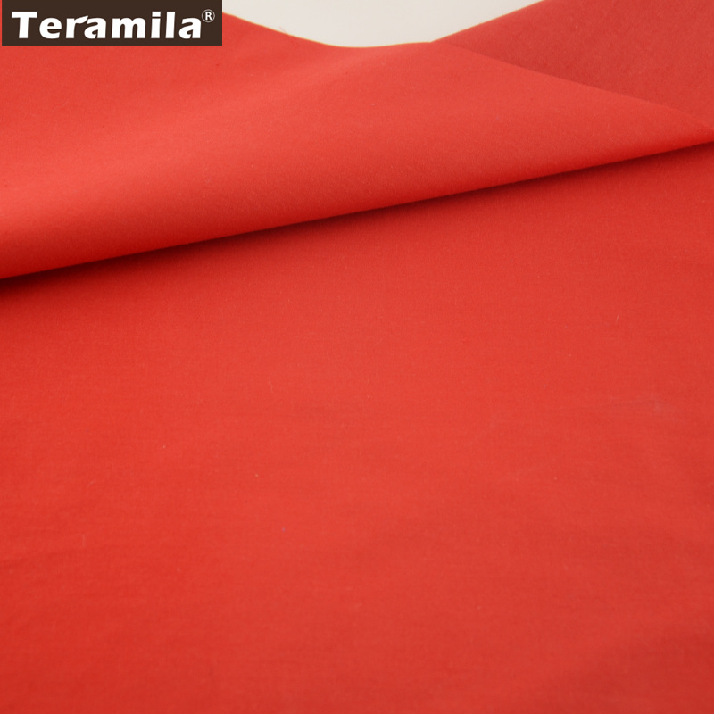 Classic Red Solid Color 100% Cotton Fabric Fat Quarter Home Textile Material Bed Sheet Patchwork 12 Kinds Sizes craft