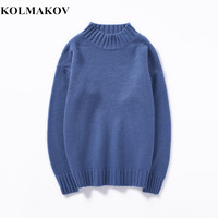 KOLMAKOV New 2019 Men's Sweater Spring Men/Women Pullovers 8 Colors Wool Cashmere Sweaters Dress Spring Knitting Mens Sweaters