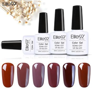Elite99 10 ml Kaffee Braun Series Gel Polish Nagel Gel Soak Off Primer UV Gel Polnischen Semi Permanent Esmaltes Gel lack