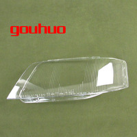 headlamp cover glass transparent lampshade lamp shade front Headlight shell For Audi A6 99 02 2pcs