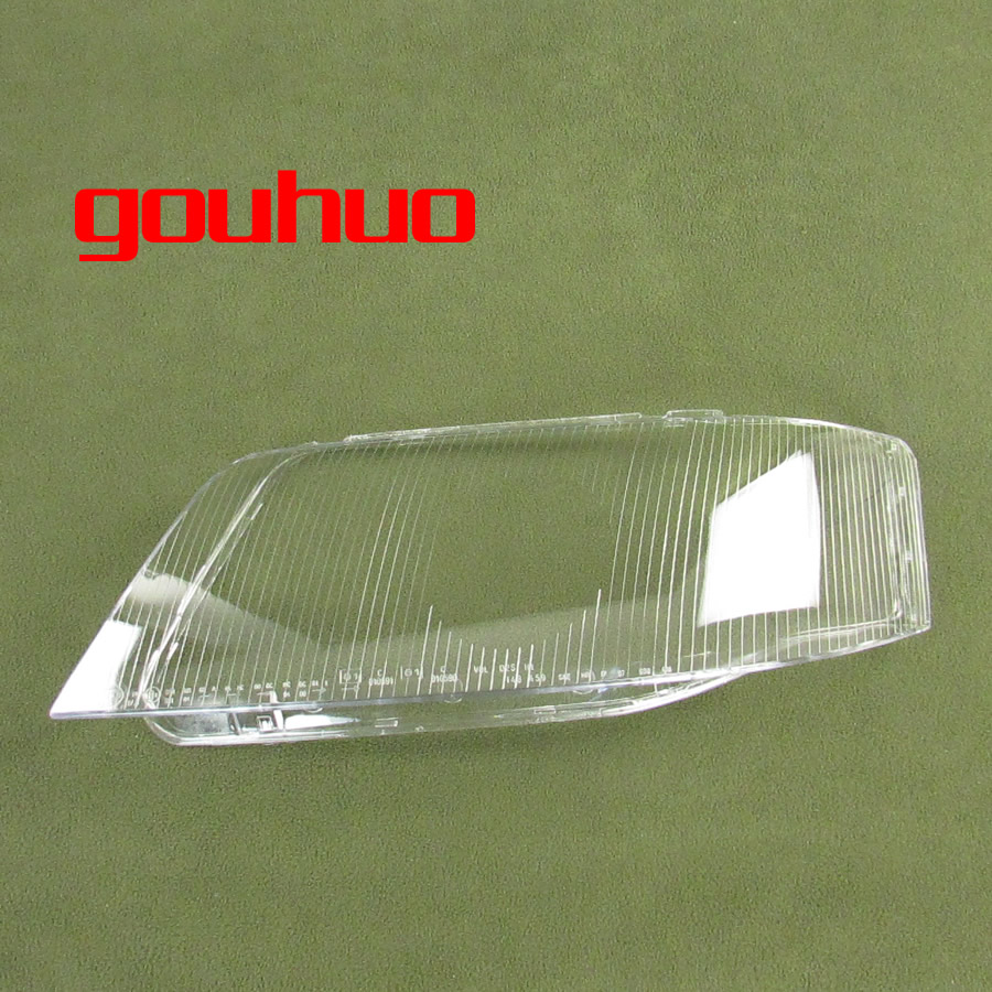 цена на headlamp cover glass transparent lampshade lamp shade front Headlight shell For Audi A6 99-02 2pcs