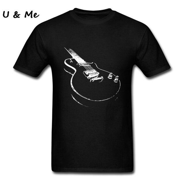 5a625d81d81 Punk Style Electric Guitar T Shirt Men Brand Black Tees Shirt Guitar Player  Gift Adult Clothing Plus Size