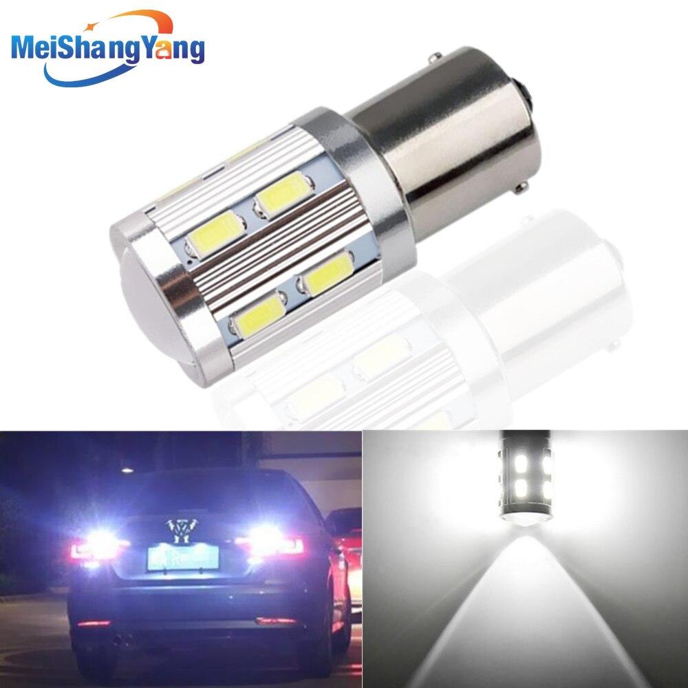 1156 BA15S 12 SMD zpětné žárovky Cree Led Chip Vysoce výkonné světlo p21w R5W Auto LED žárovky zadní brzda Světla Zdroj parkování 12V Bílá