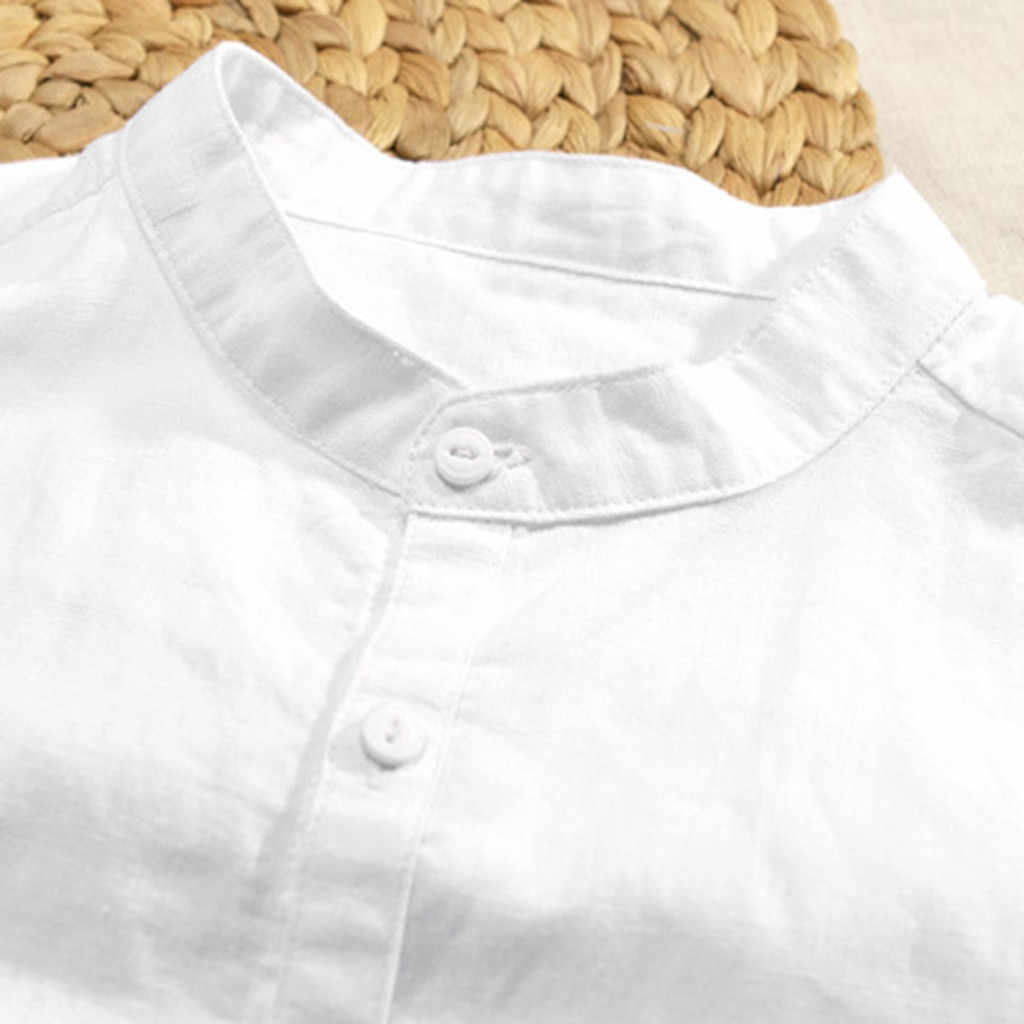 Zerotime #401 2019 新ファッション夏メンズ通気性のソリッドカラーのボタンコットンシャツ 5 点スリーブスリーブ hotFree 無料