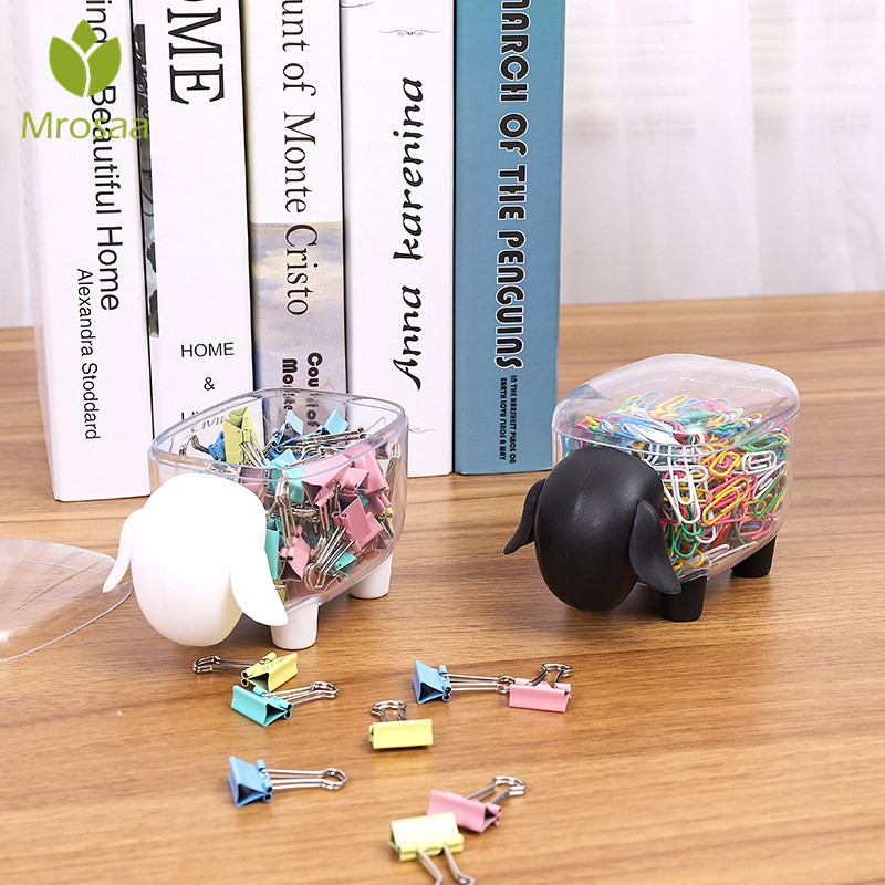 1Pcs Creative Mini Plastic Cotton Swab Storage Box Cute Sheep Elephant Dust-proof Cosmetic Storage Box Candy Desktop Organizer