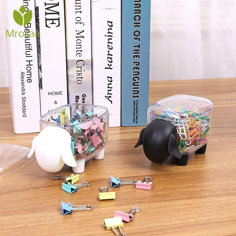 1Pcs Creative Mini Plastic Cotton Swab Storage Box Cute Sheep Elephant Dust-proof Cosmetic Storage Box Candy Desktop Organizer