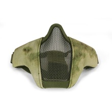 Tactical Half Face Mask Airsoft Field Wargame Metal Steel Net Mesh Military Hunting