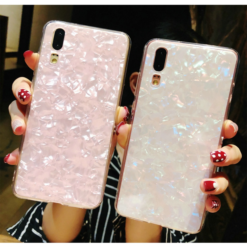 Luxury Glitter Pink White case for huwai p20 lite p9 lite mini case 3D silicone For huawei p9 lite mini p20 Lite cover Soft tpu in Fitted Cases from Cellphones Telecommunications