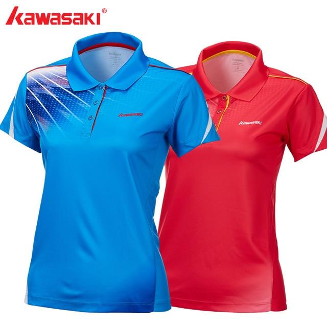 Kawasaki Running T-Shirt Dry Fit Women Breathable Short Sleeve White T Shirt for Badminton Tennis Sports Gym Fitness ST-T2011