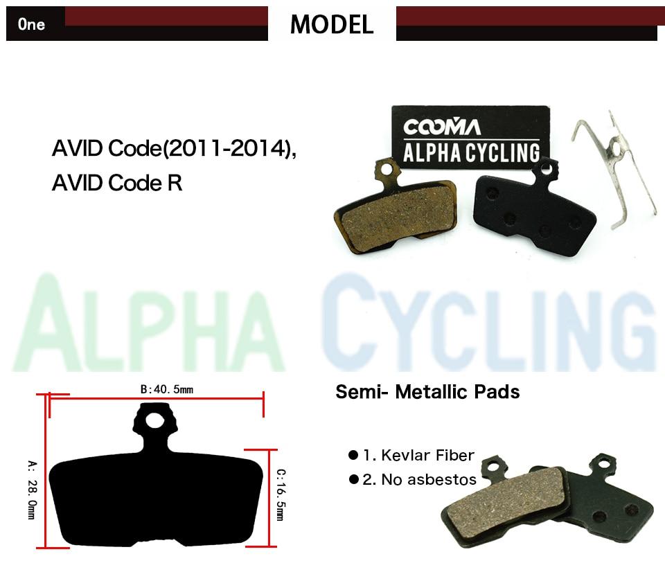 Pastillas de freno de disco de bicicleta para AVID Código R o para - Ciclismo - foto 2