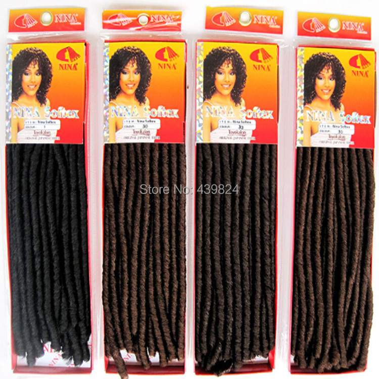 Top Fashion Curly Synthetic Hair Extensions Soft Dreadlocks Twist