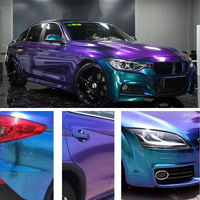 1.52*6M Car DIY Sticker Glossy Chameleon Pearl Glitter Vinyl Sticker Purple Blue Car Wrap Sticker Decal Air Release Film