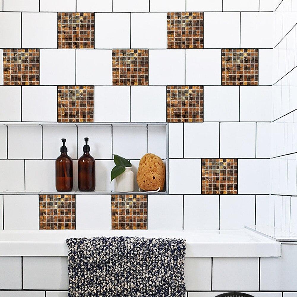 10Pcs/Set 20*20cm Geometric Style Self Adhesive Tile Wall Stickers ...